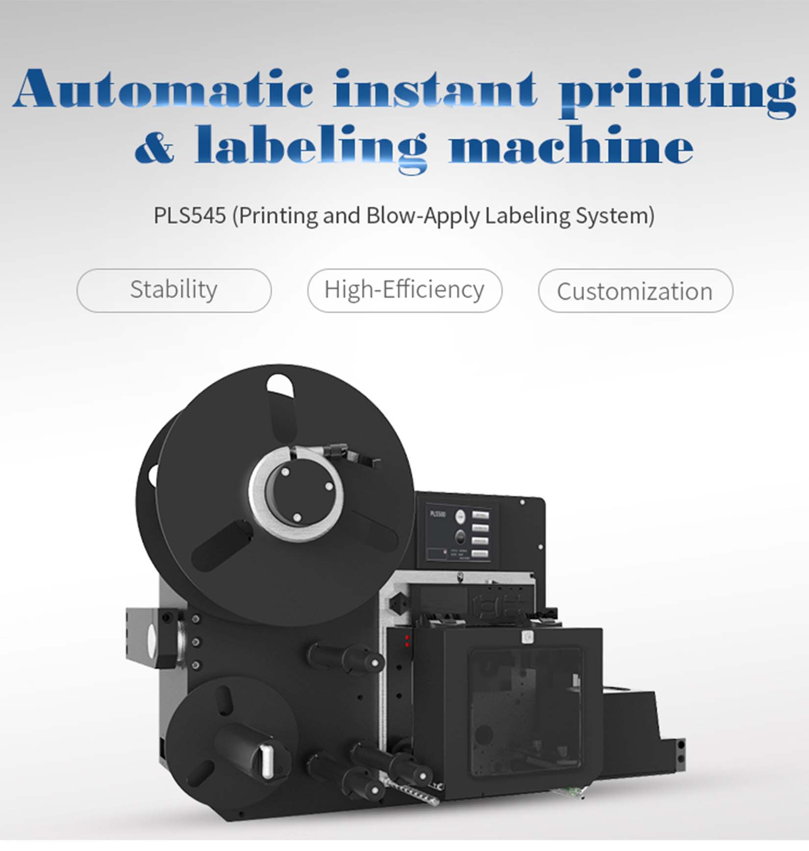 Print and Blow-Apply Labeling System PLS545