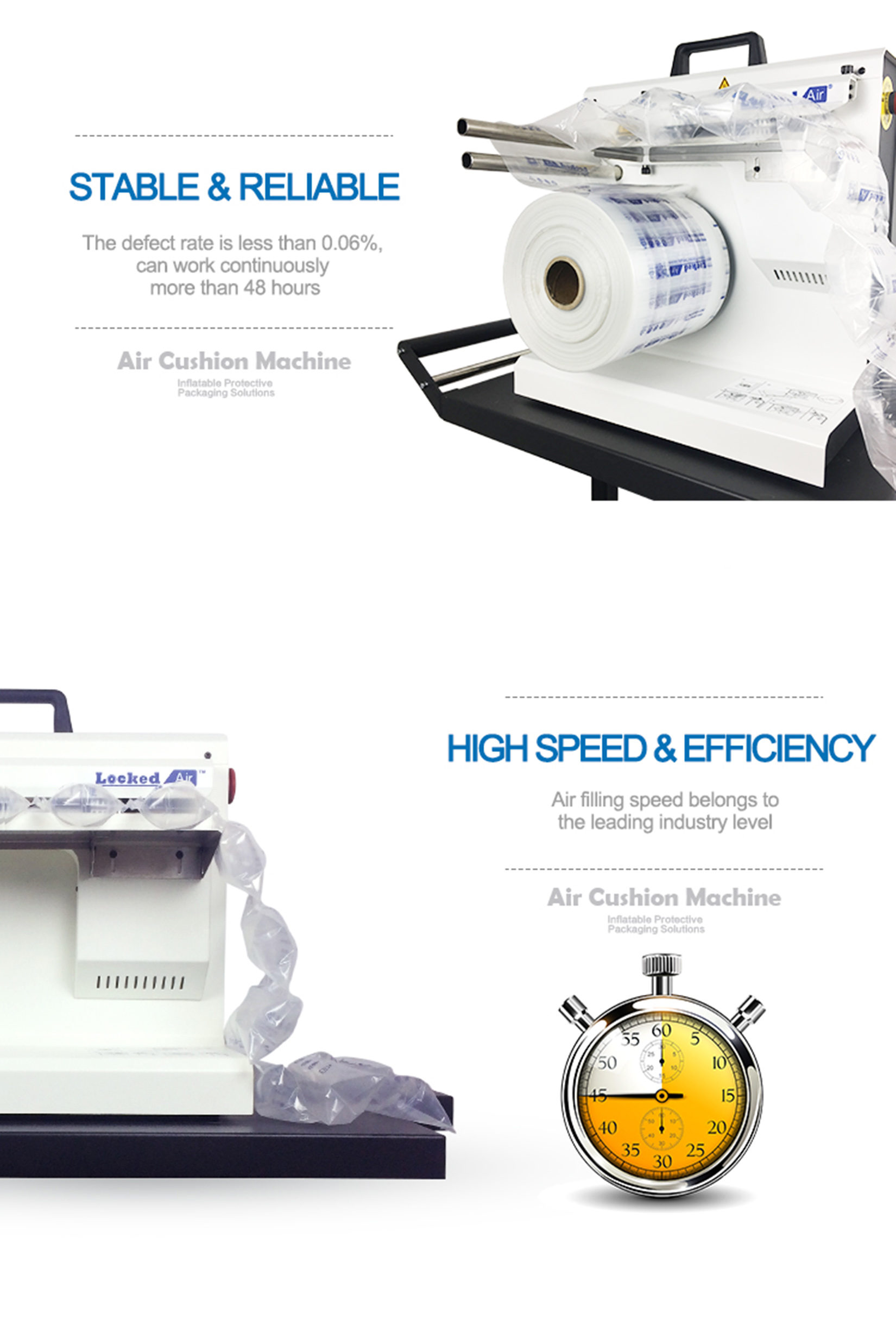 LA-E3 Durable & Affordable Air Pillow Packaging Machine - Business Class